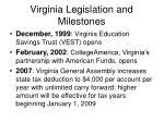 virginia legislation and milestones9