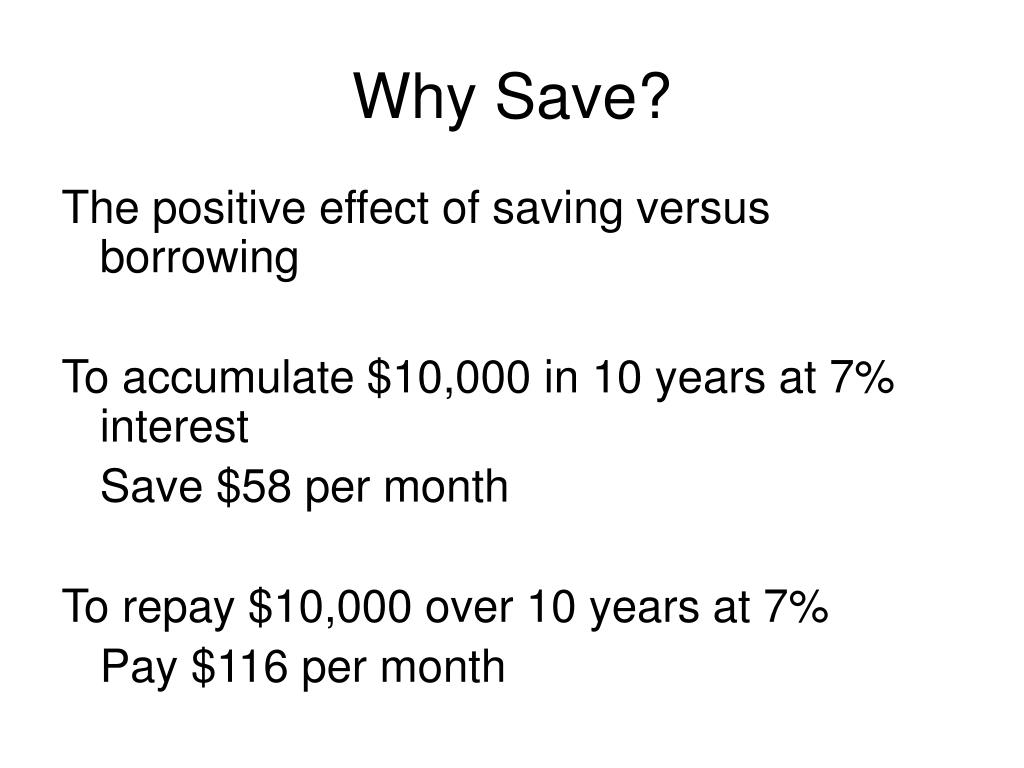 Why Save?