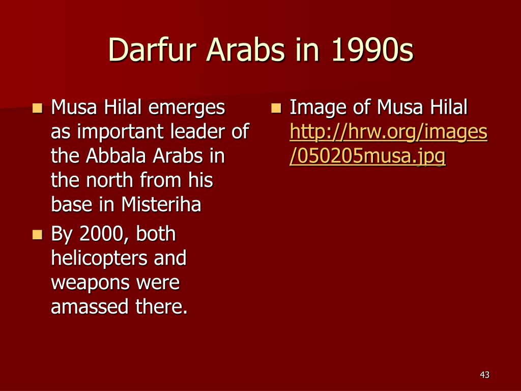 Darfur Arabs in 1990s