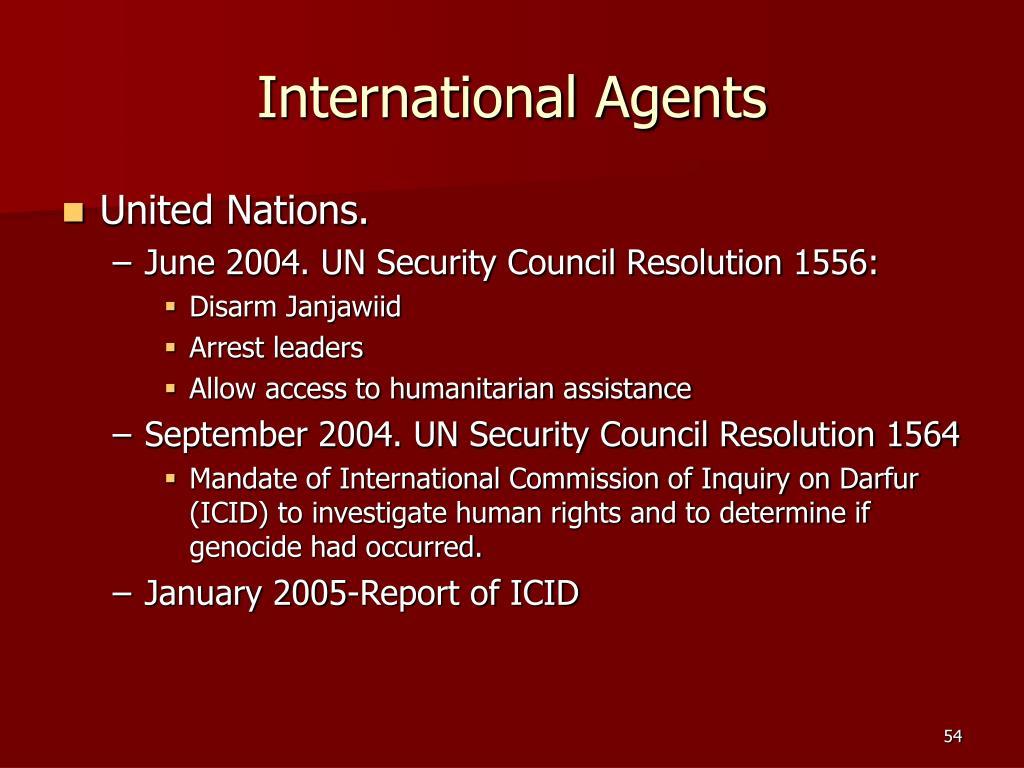 International Agents