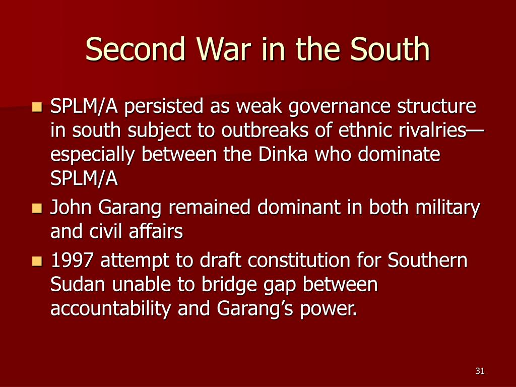 Second War in the South