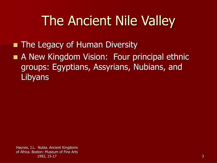 The ancient nile valley