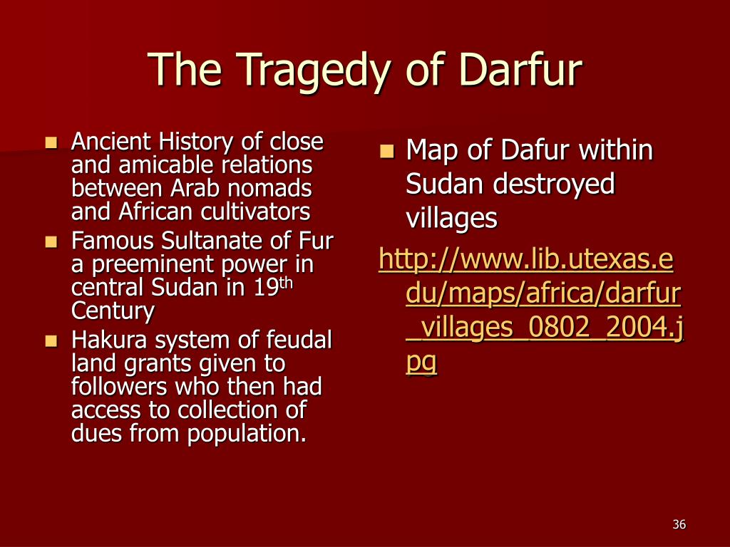 The Tragedy of Darfur