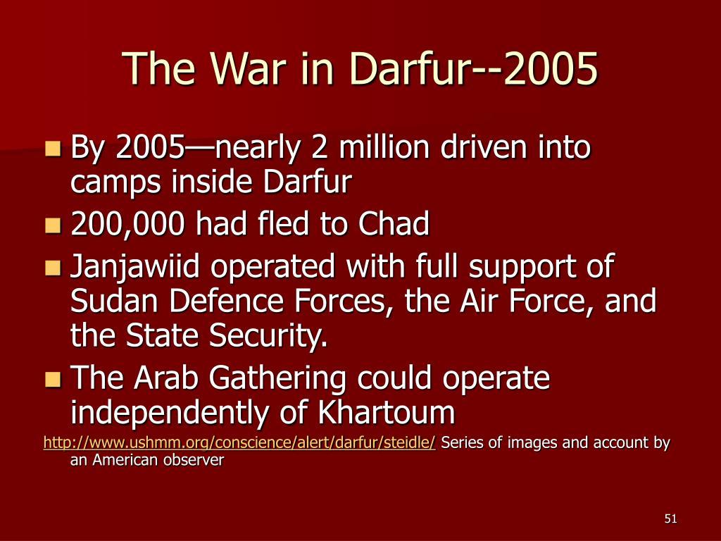 The War in Darfur--2005
