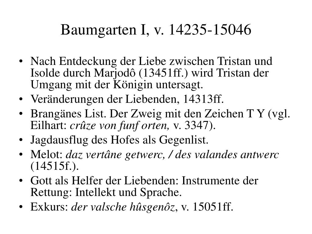 Baumgarten I, v. 14235-15046