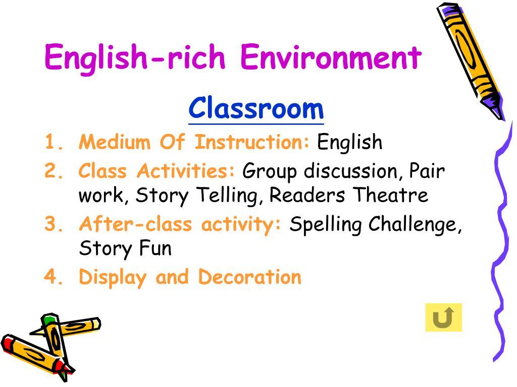 English-rich Environment