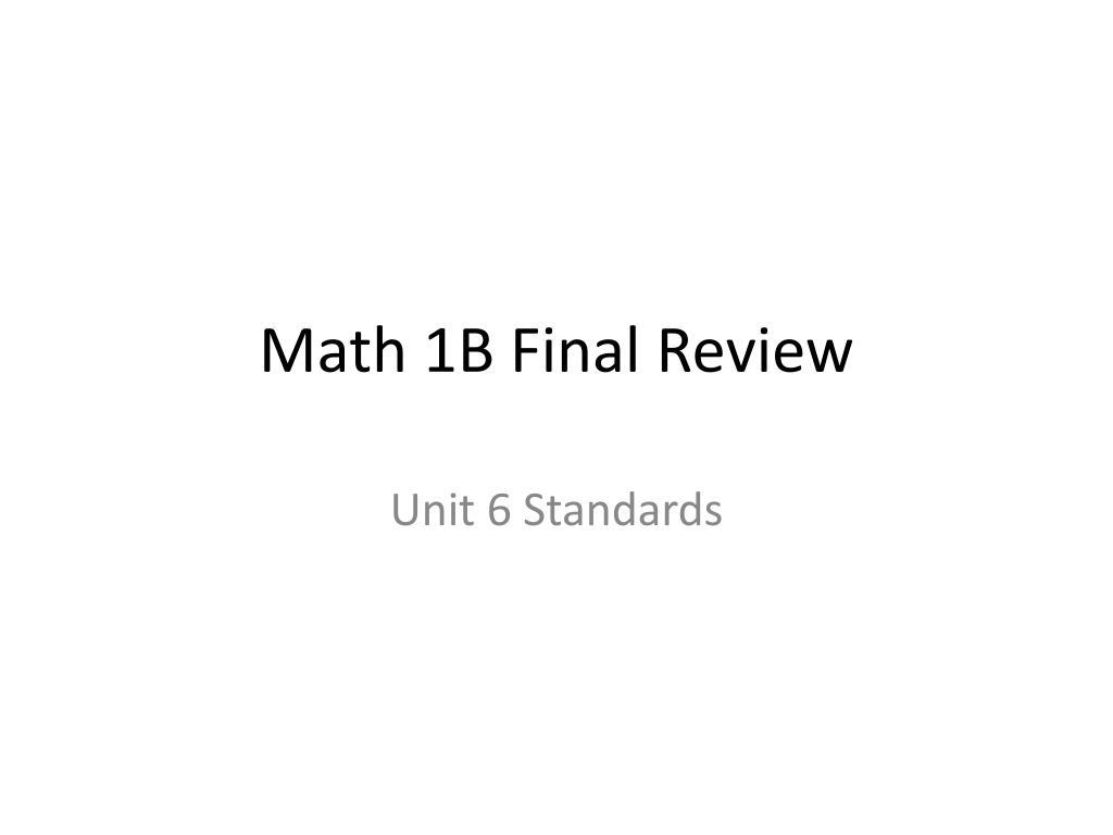 math 1b final review