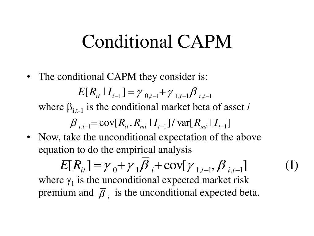 Conditional CAPM