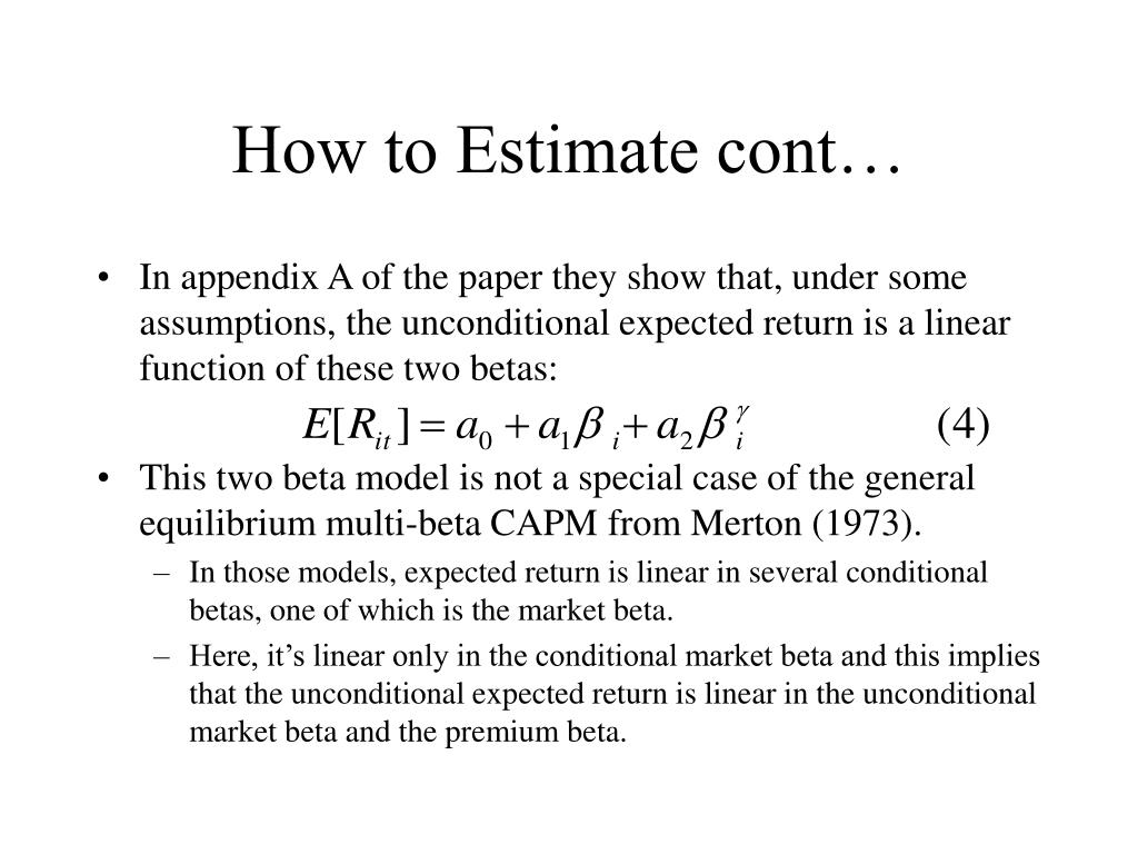 How to Estimate cont…