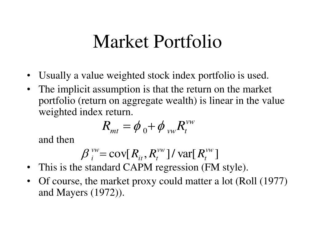 Market Portfolio