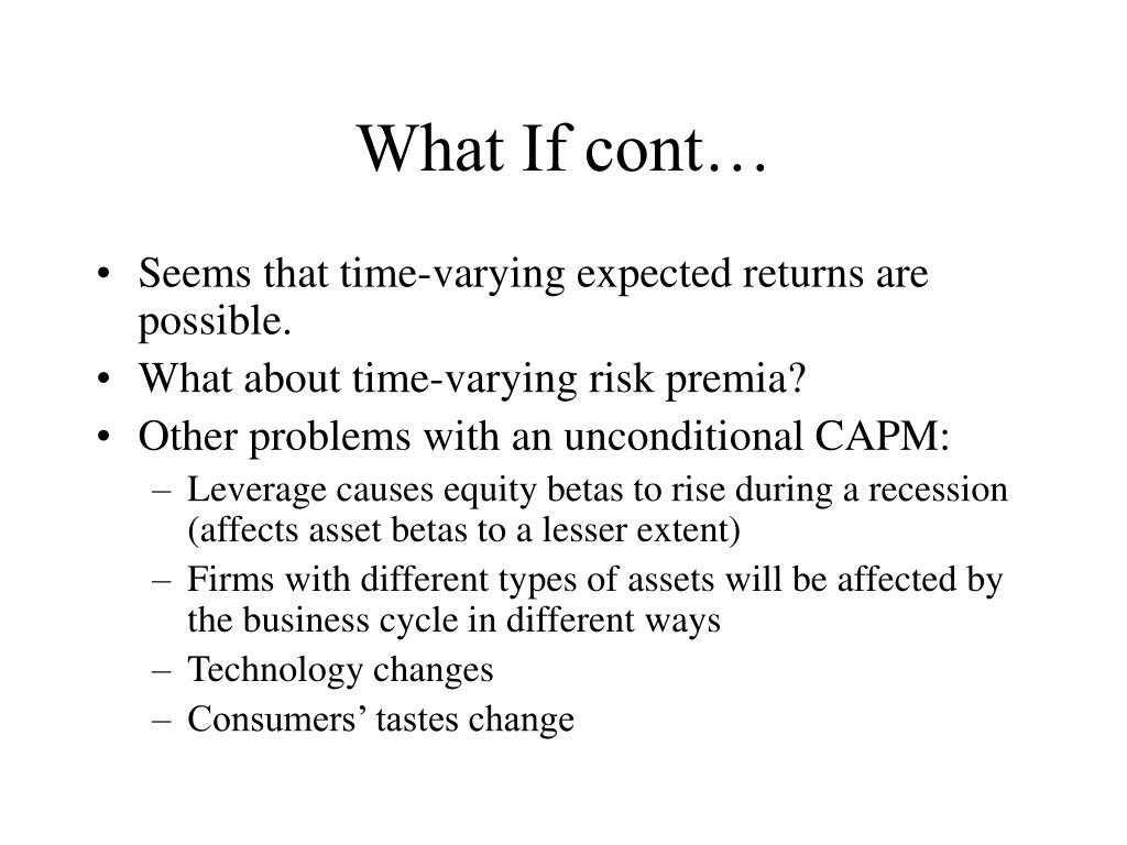 What If cont…