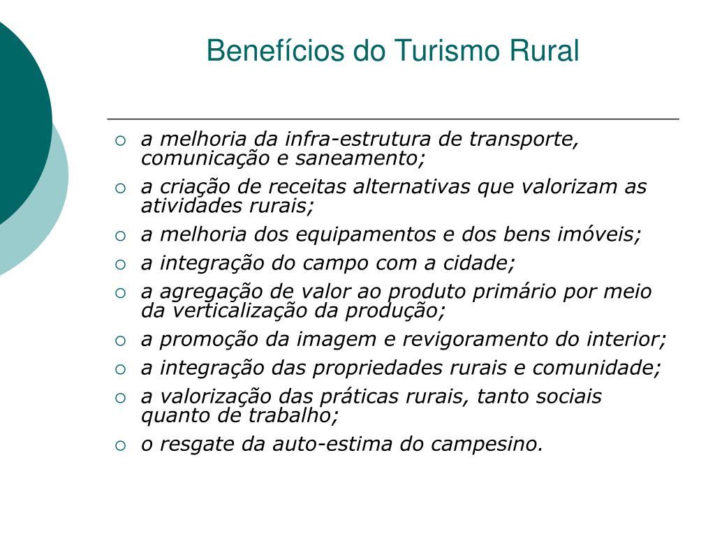 Benefícios do Turismo Rural