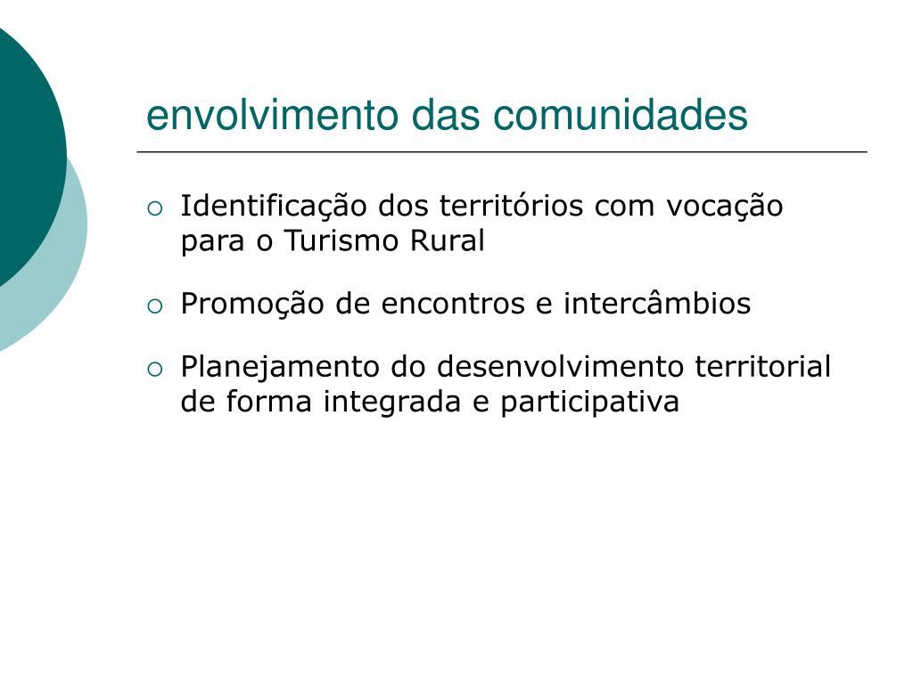 envolvimento das comunidades