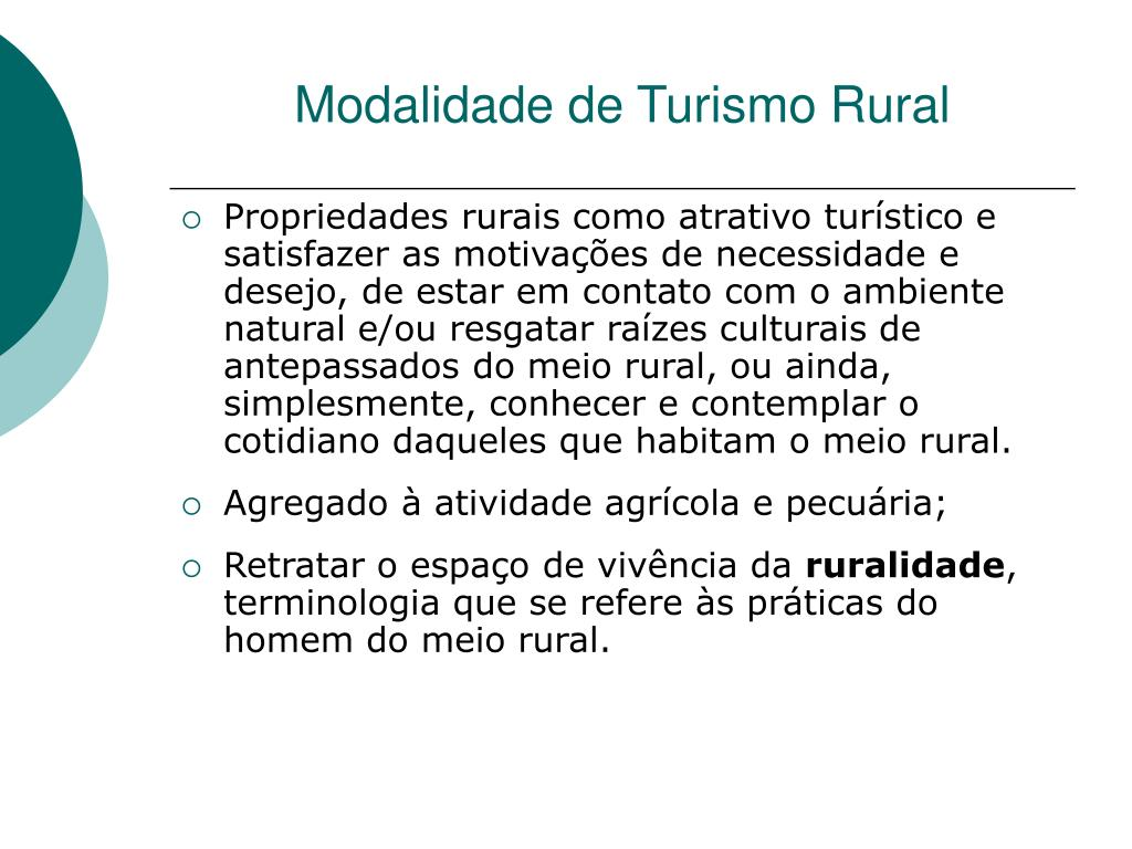 Modalidade de Turismo Rural