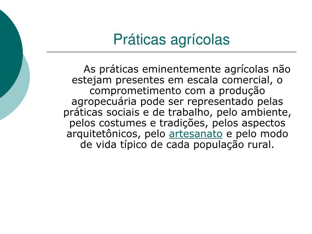 Práticas agrícolas