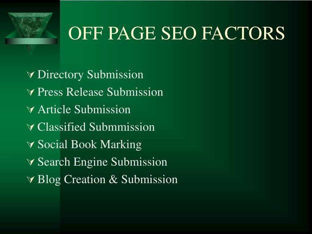 OFF PAGE SEO FACTORS
