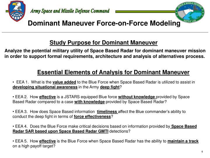 Dominant Maneuver Force-on-Force Modeling