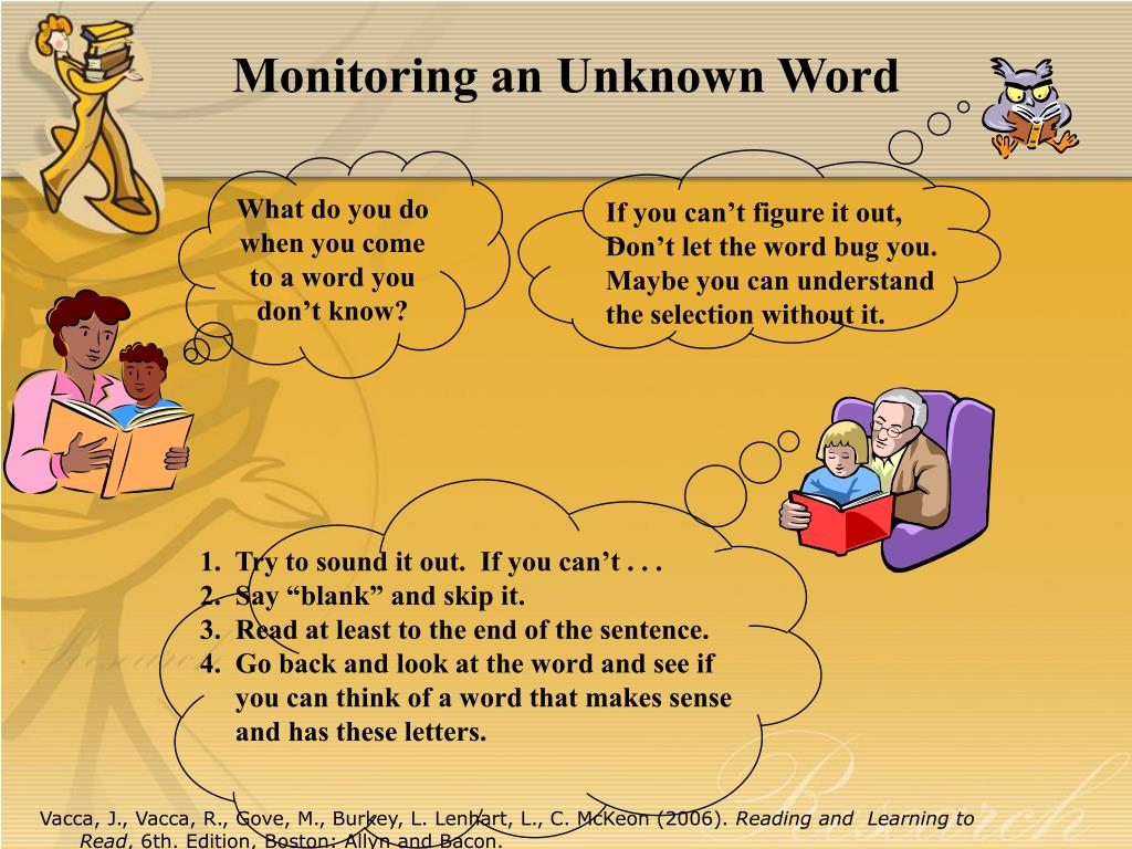 Monitoring an Unknown Word