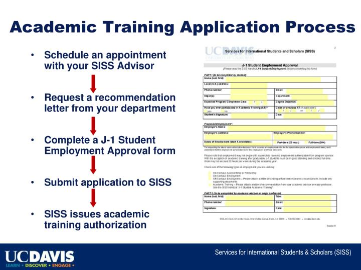 Academic Training Application Process