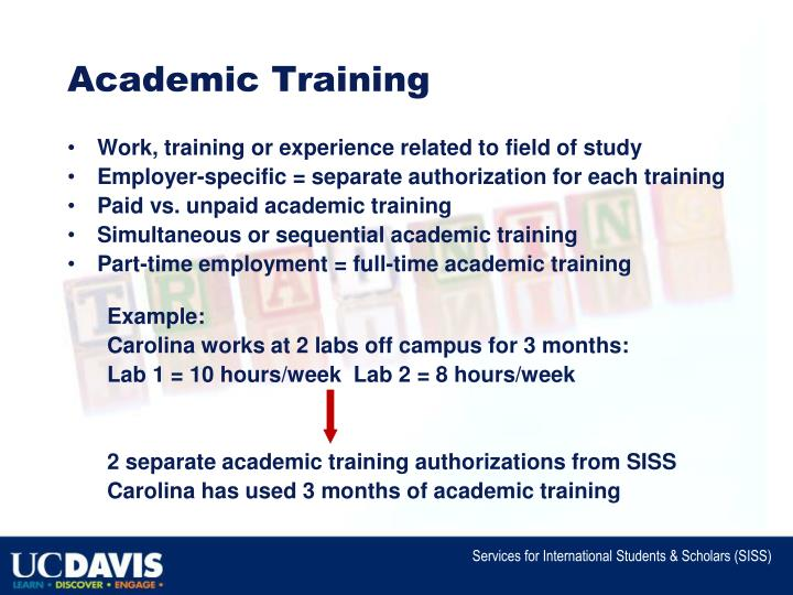 Academic Training