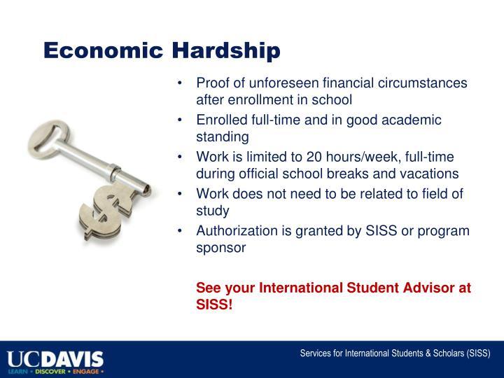 Economic Hardship