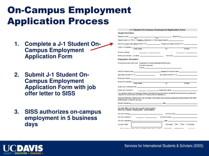 On-Campus Employment Application Process