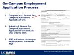 on campus employment application process