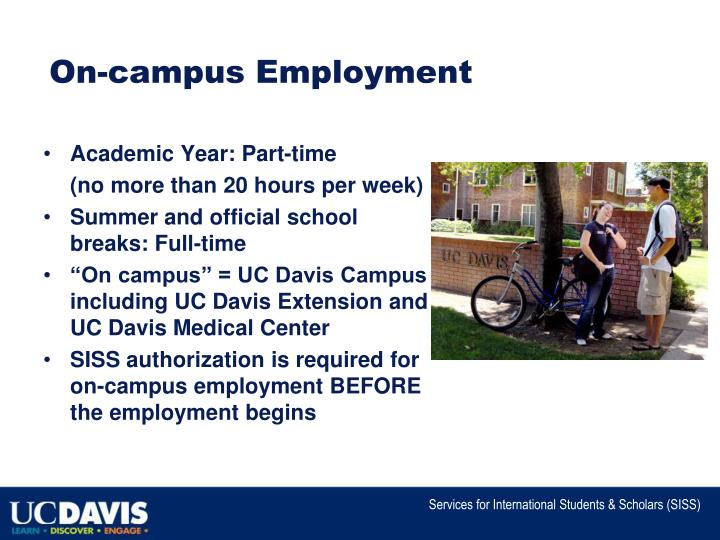 On campus employment
