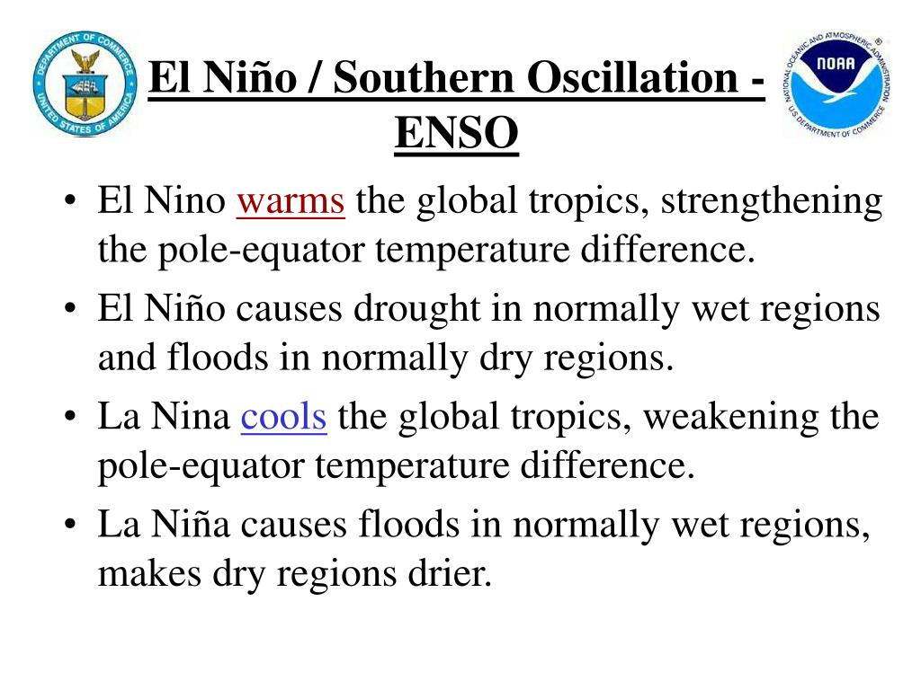 an introduction to el nino or el nino southern oscillation or enso El niño/southern oscillation (enso) diagnostic discussion issued by climate prediction center/ncep/nws and the international research institute for climate and society.