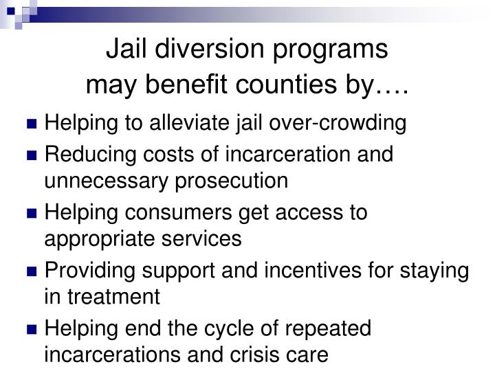 """diversion program Diversion is a program that has been created by the state legislature and signed into law it identifies crimes and offender characteristics that will enable the defendant to enter the program under some diversion systems, defendants are """"diverted"""" to counseling early in the proceedings."""