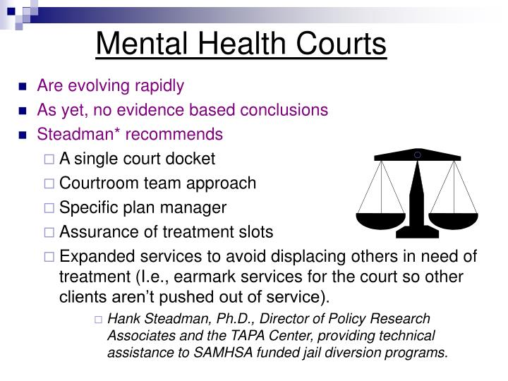 Mental health court essay