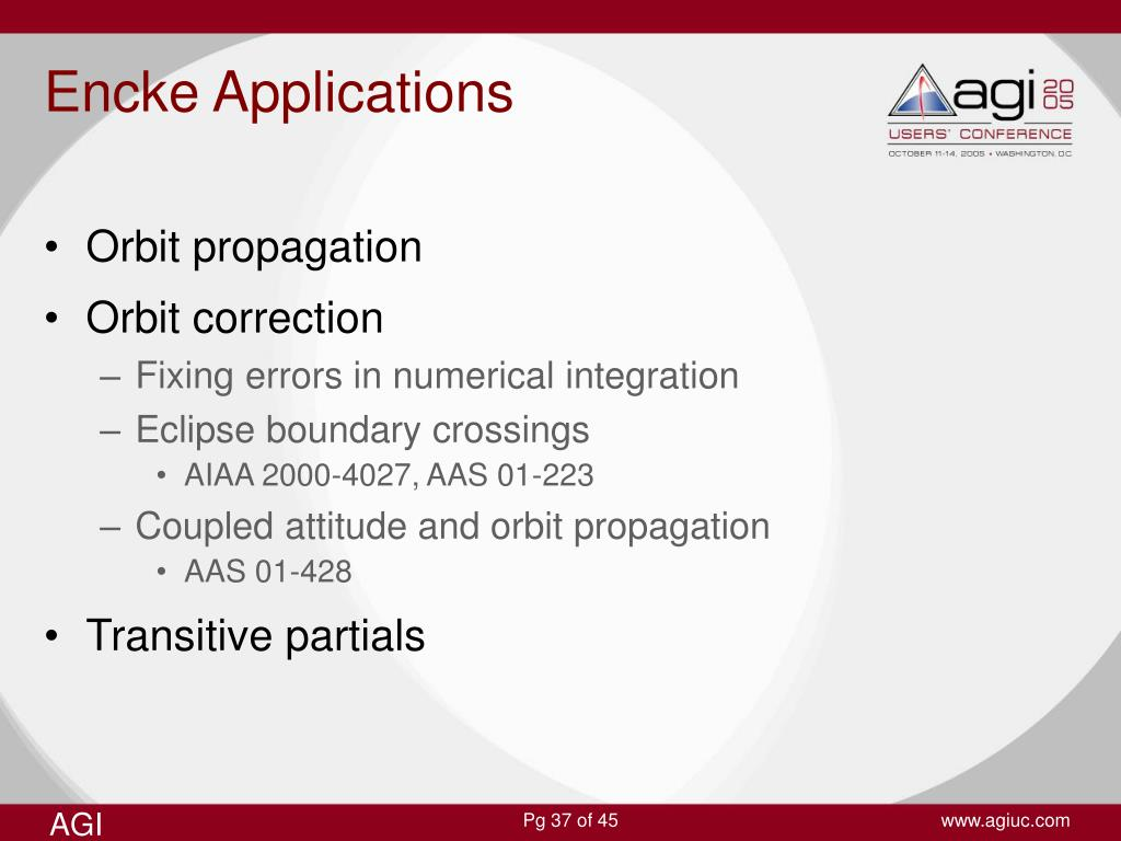 Encke Applications