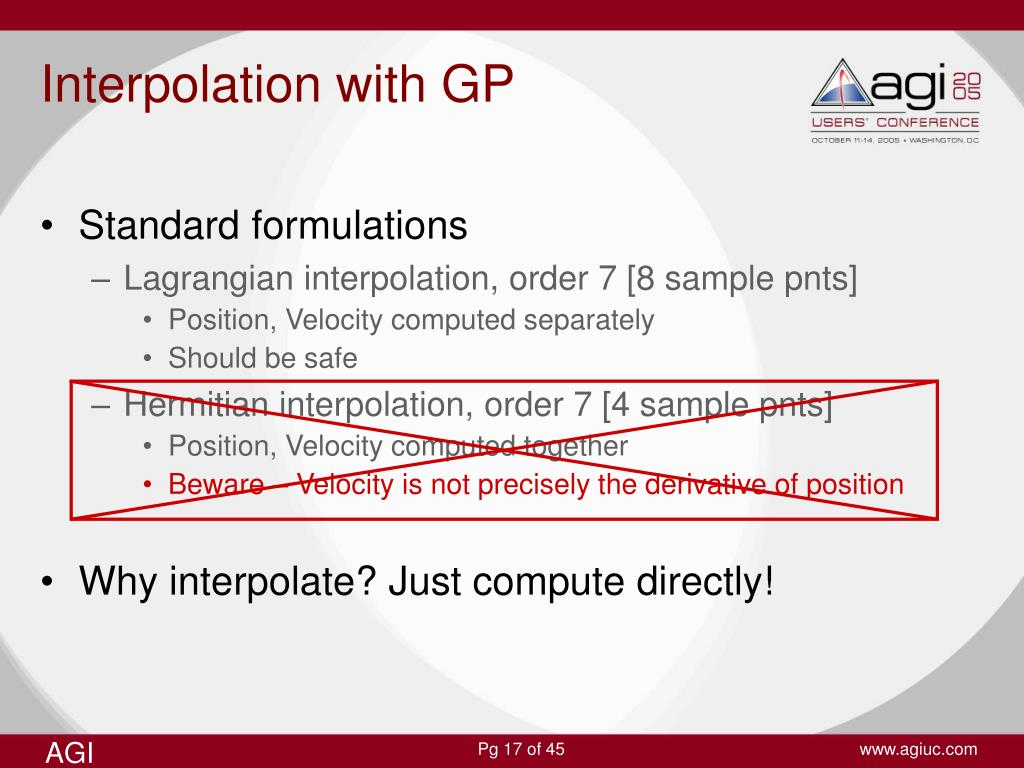 Interpolation with GP