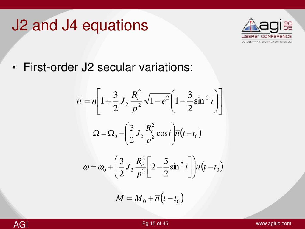 J2 and J4 equations