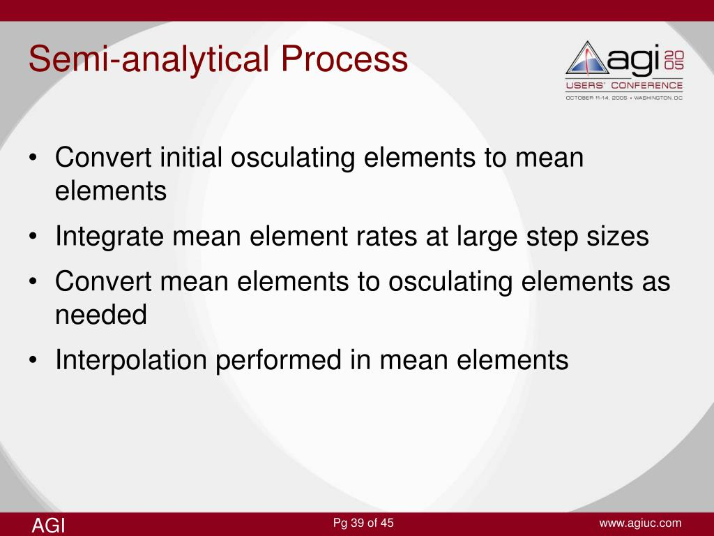 Semi-analytical Process