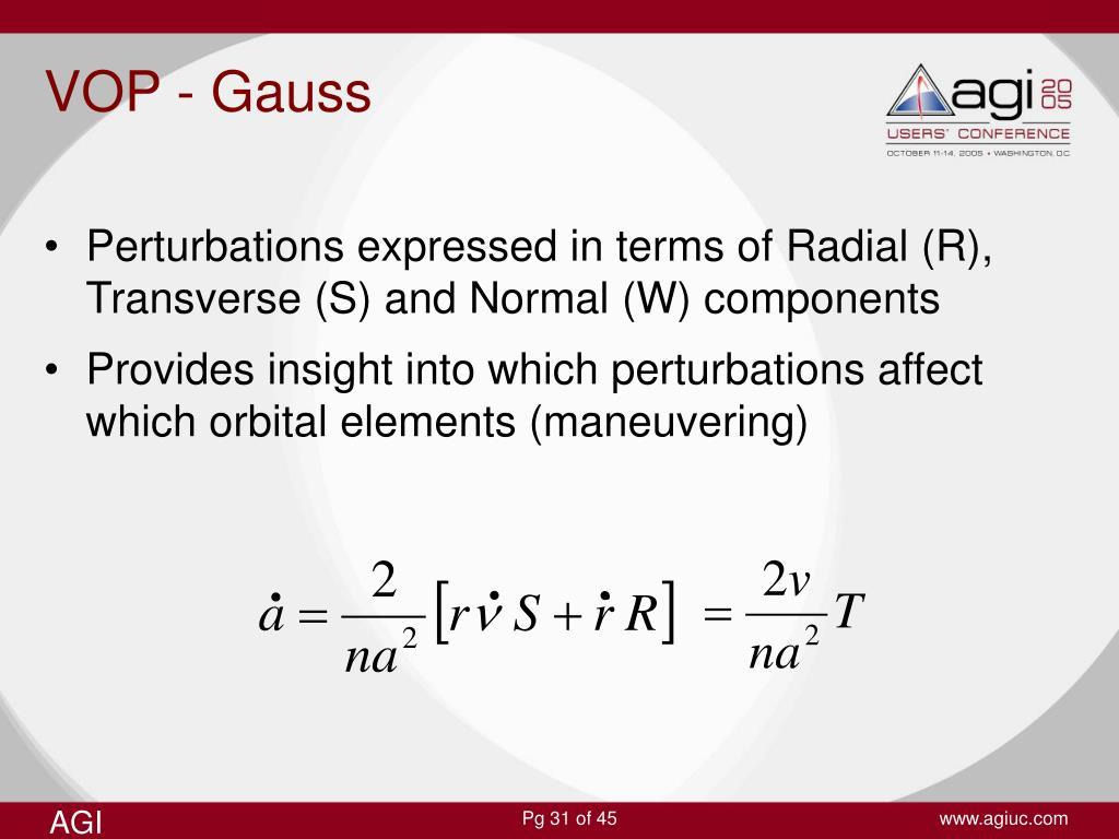 VOP - Gauss