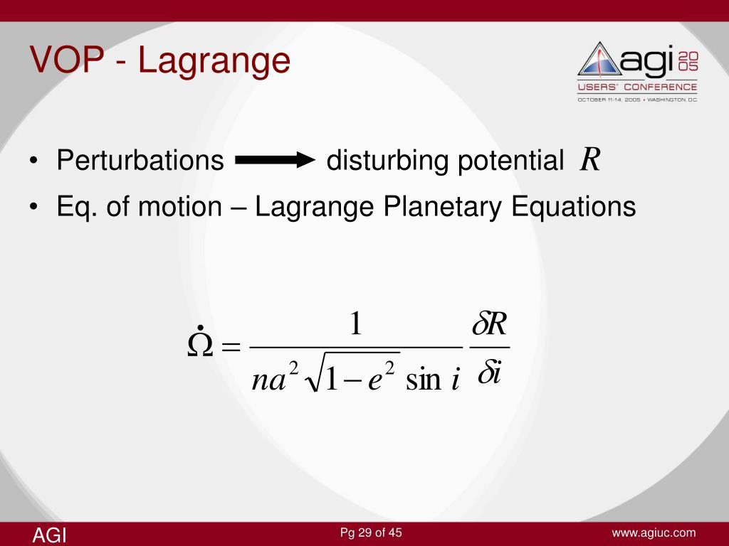VOP - Lagrange