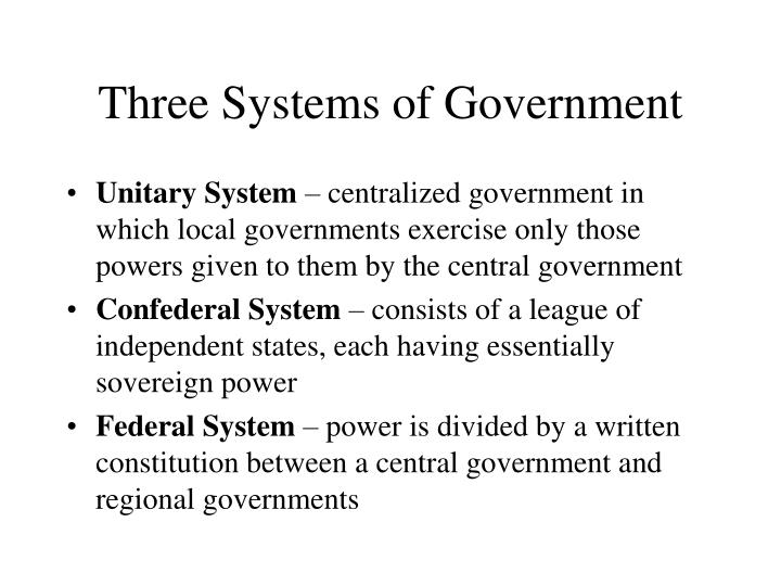 Three systems of government l.jpg