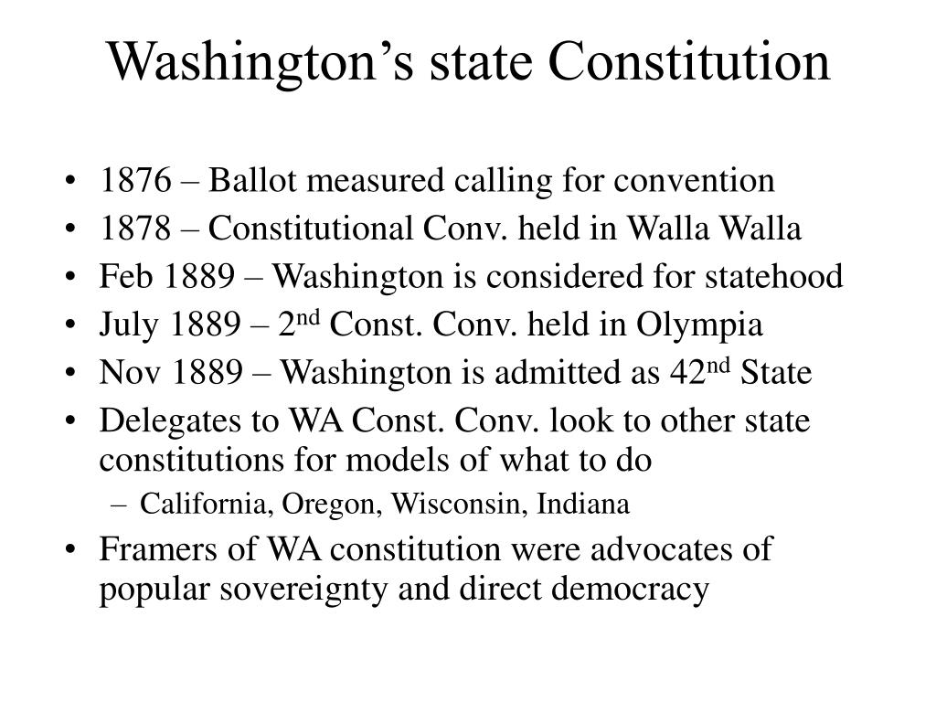 Washington's state Constitution