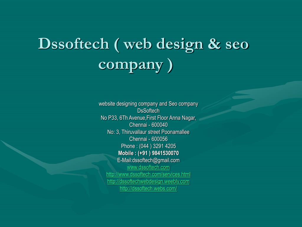 Dssoftech ( web design & seo company )
