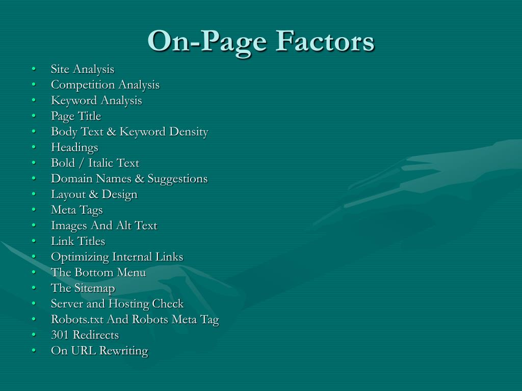 On-Page Factors