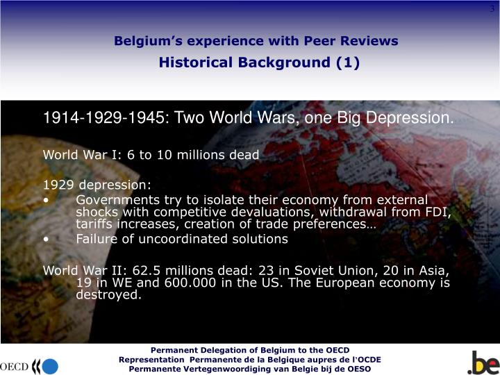 Belgium s experience with peer reviews historical background 1 l.jpg
