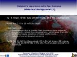 belgium s experience with peer reviews historical background 1
