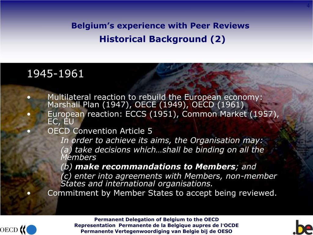Belgium's experience with Peer Reviews