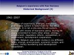 belgium s experience with peer reviews historical background 3