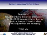 belgium s experience with peer reviews13