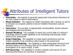 attributes of intelligent tutors