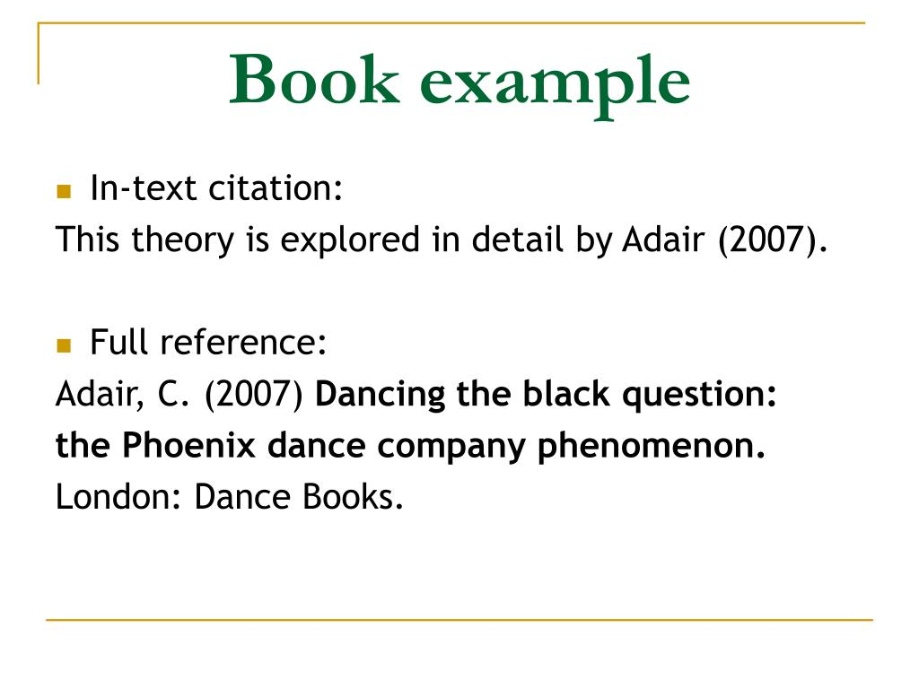 Book example