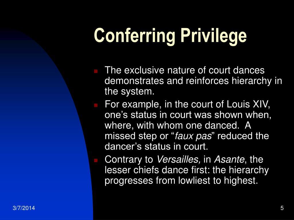 Conferring Privilege