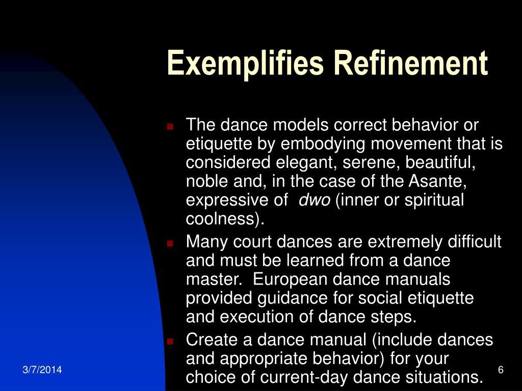 Exemplifies Refinement